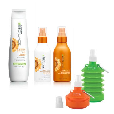 Matrix Biolage Sunsorials Kit Shampoo 250ml Oil 150ml Repair Spray 150ml   Water bottle en regalo