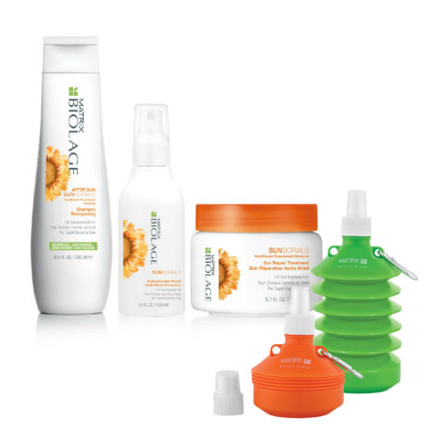 Matrix Biolage Sunsorials Kit Shampoo 250ml Treatment 150ml Dry-oil 150ml   Water bottle en regalo