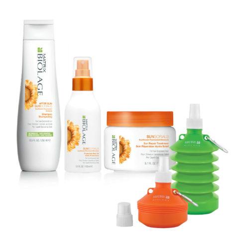 Matrix Biolage Sunsorials Kit Shampoo 250ml Treatment 150ml Oil 150ml   Water bottle en regalo