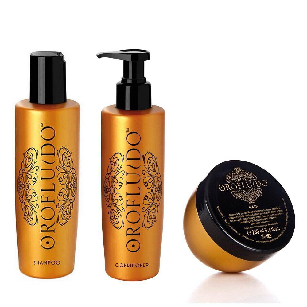 Orofluido Shampoo 200ml Conditioner 200ml  Mask 250ml - Champù Acondicionador y Mascarilla
