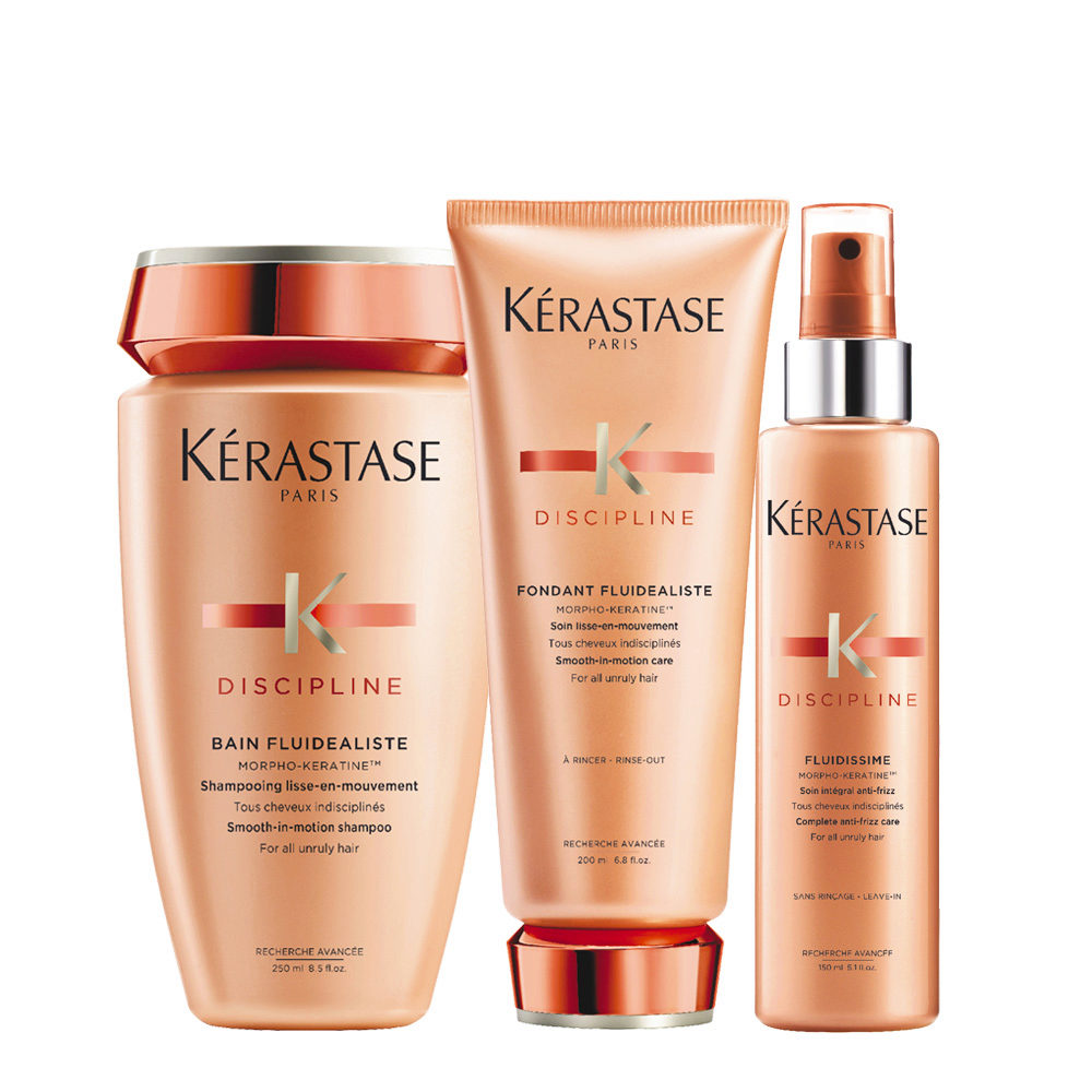 Kerastase Discipline Kit Champú 250ml Balsamo 200ml Spray Anti-Encrespamiento  150ml
