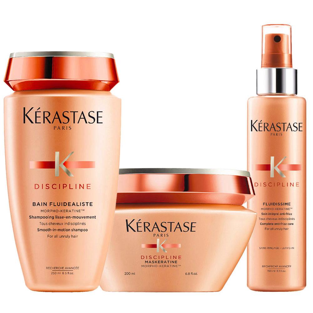 Kerastase Discipline Kit Champú 250ml Mascara 200ml Anticrespo  spray 150ml
