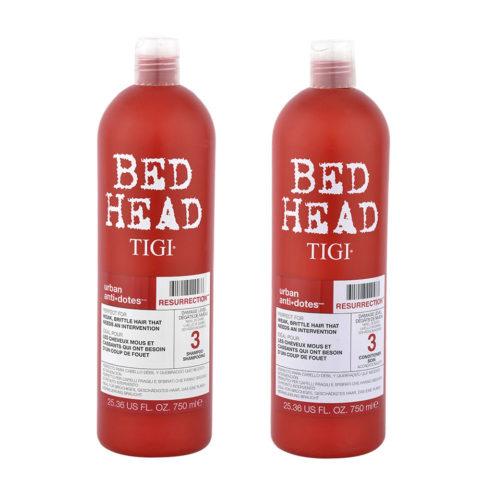 Tigi Urban Antidotes Kit Resurrection Shampoo 750ml   Conditioner 750ml