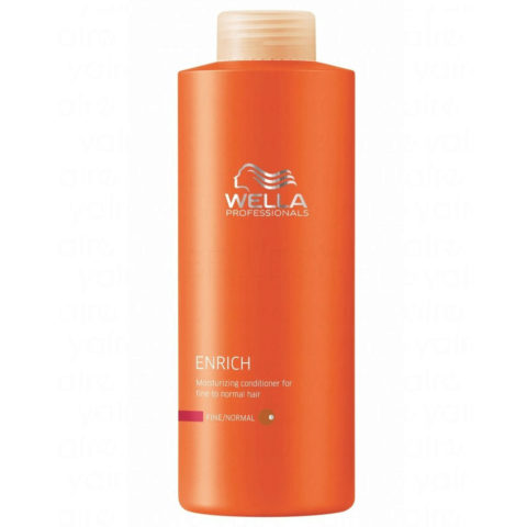 Wella Enrich Moisturizing Conditioner 1000ml - acondicionador cabello fino/normal