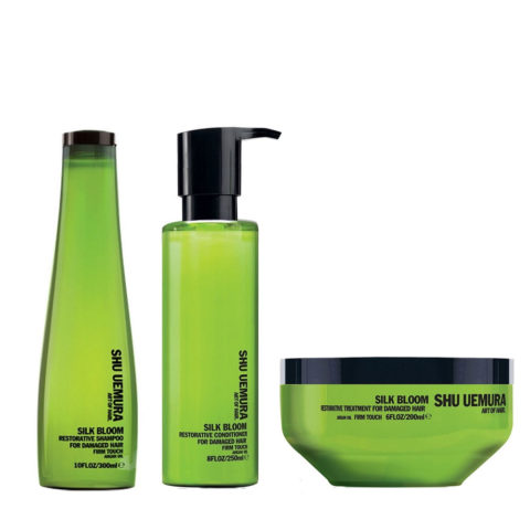Shu Uemura Kit2 Silk Bloom Restorative Shampoo   Conditioner   Mask