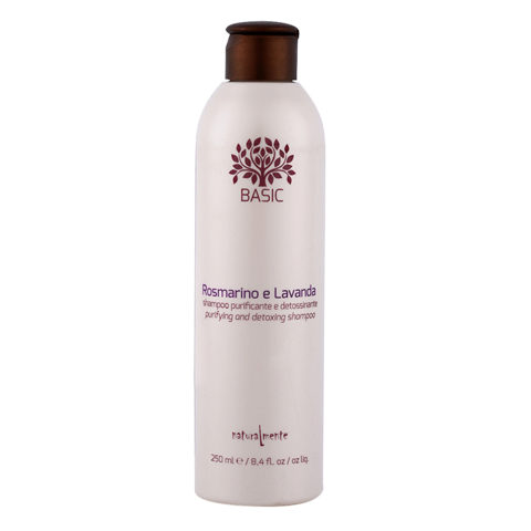 Naturalmente Basic Rosemary and lavender Purifying detoxifying shampoo 250ml