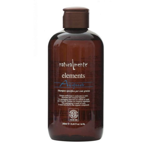 Naturalmente Elements Shampoo acqua cute grassa 250ml
