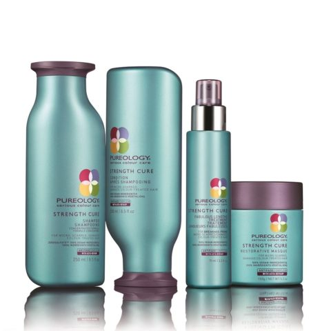 Pureology Strength cure Shampoo 250ml Conditioner 250ml Masque 150gr Fabulous lengths 95ml