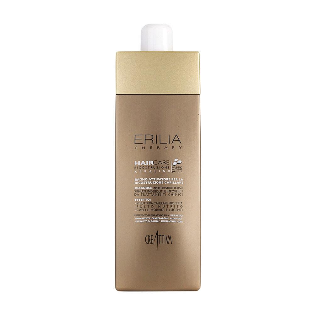 Erilia Haircare Keralink Bagno Attivatore Ricostruzione Capillare 750ml - champù para cabello dañado