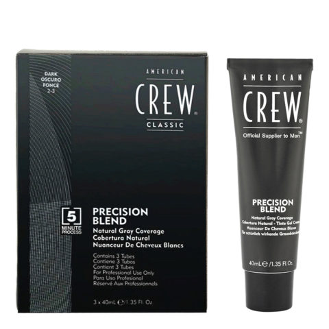 American Crew Classic Precision Blend 2-3 negro 3x40ml - colorear para hombres