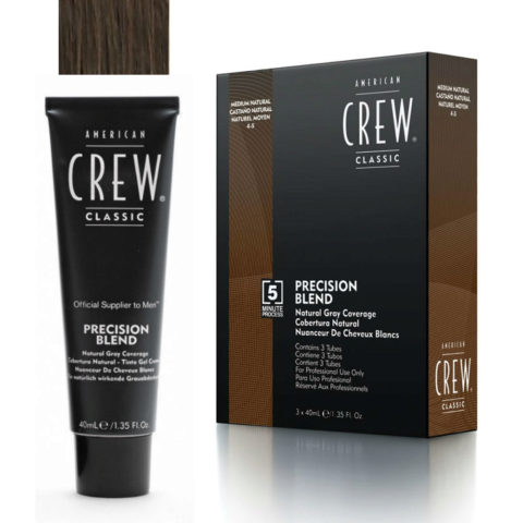 American Crew Classic Precision Blend 4-5 castaño medio natural 3x40ml