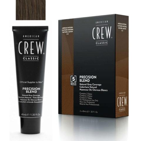American Crew Classic Precision Blend 4-5 castaño natural 3x40ml