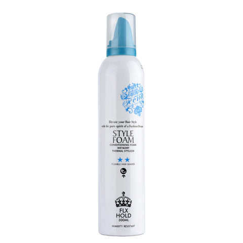 Tecna LMZ Stylish Style foam Blue conditioning foam 300ml - Espuma Para más Cuerpo, Volumen y Fijación