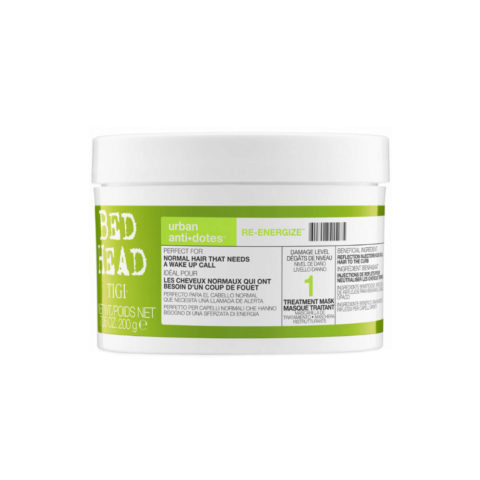 Tigi Urban Antidotes Re-energize treatment mask 200gr - mascarilla de reestructuración nivel 1