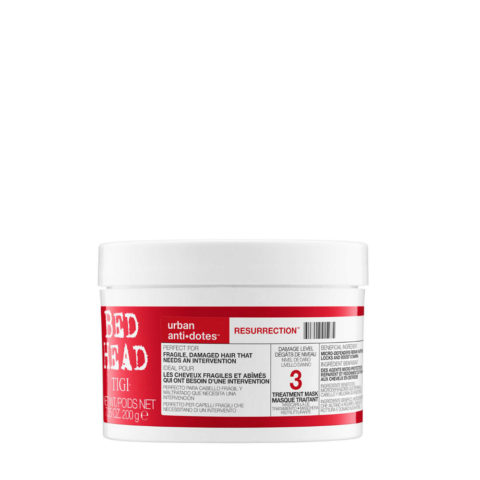 Tigi Urban Antidotes Resurrection treatment mask 200gr - mascarilla de reestructuración nivel 3