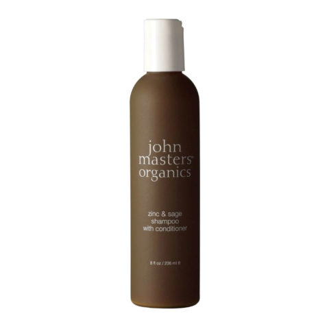 John Masters Organics Haircare Zinc & Sage Shampoo with Conditioner 236ml - champú y acondicionador