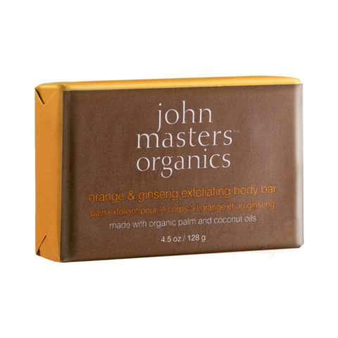John Masters Organics Orange & Ginseng Exfoliating Body Bar 128gr -  jabón corporal exfoliante