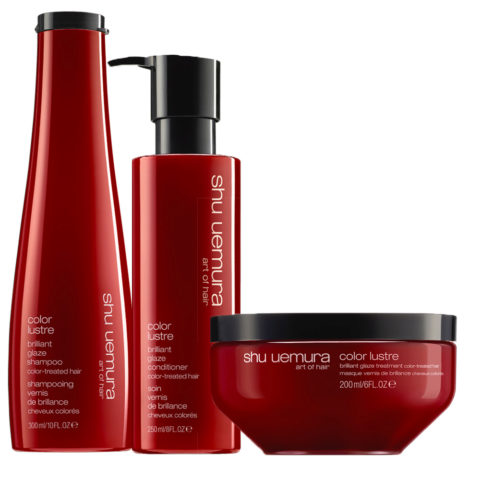 Shu Uemura Color Lustre Kit Champú 300ml Acondicionador 250ml Mscara 200ml