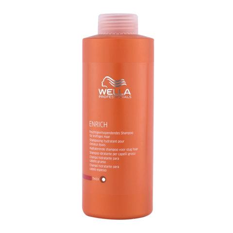 Wella Enrich Moisturizing Shampoo 1000ml - champù cabello grueso