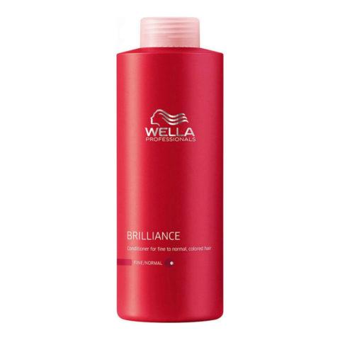 Wella Brilliance Conditioner 1000ml - acondicionador cabello fino/normal