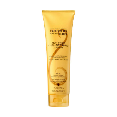 Alterna Bamboo Smooth Curls Anti-frizz Curl defining cream 133ml - crema de definición del cabello ondulado