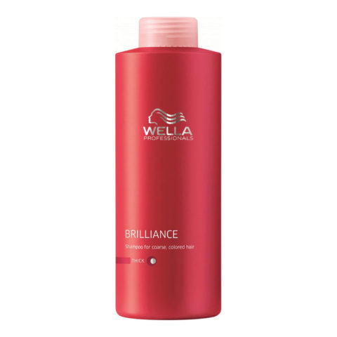 Wella Brilliance Shampoo 1000ml - champù cabello grueso