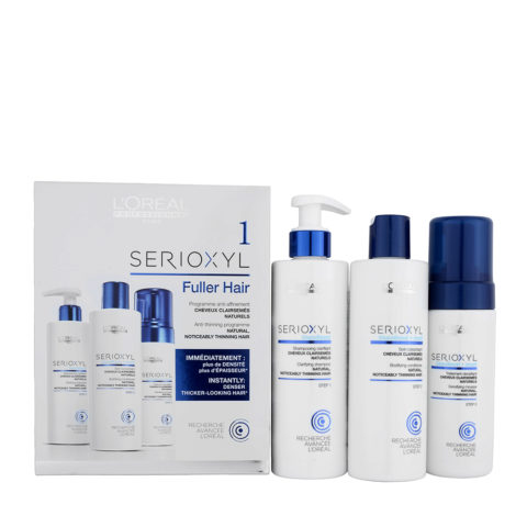 L'Oreal Serioxyl Fuller hair kit 1 para cabello afinado natural