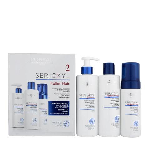 L'Oreal Serioxyl Fuller hair kit 2 para cabello afinado coloreado