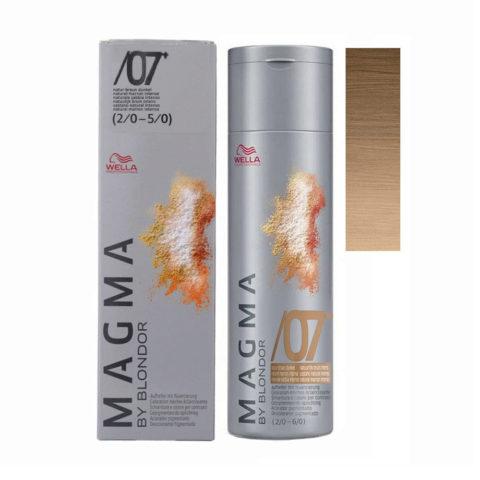 /07 plus Castaño natural intenso Wella Magma 120gr