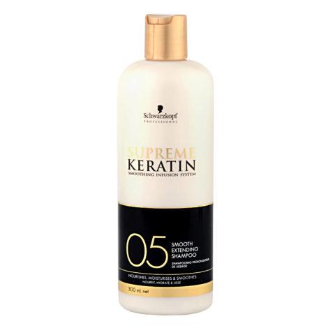 Schwarzkopf Supreme Keratin 05 Smooth extending shampoo 300ml - Champú estrenante