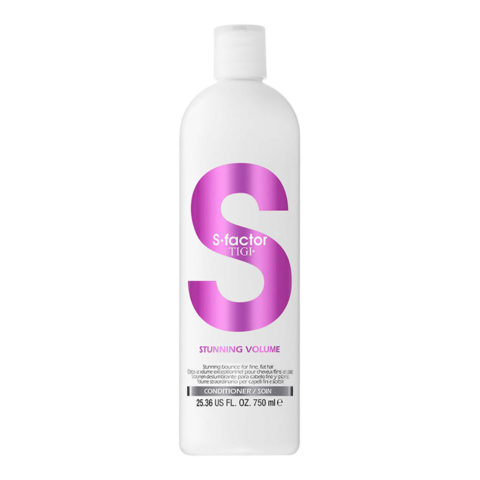 Tigi S-Factor Stunning Volume Conditioner 750ml - acondicionador volumizador