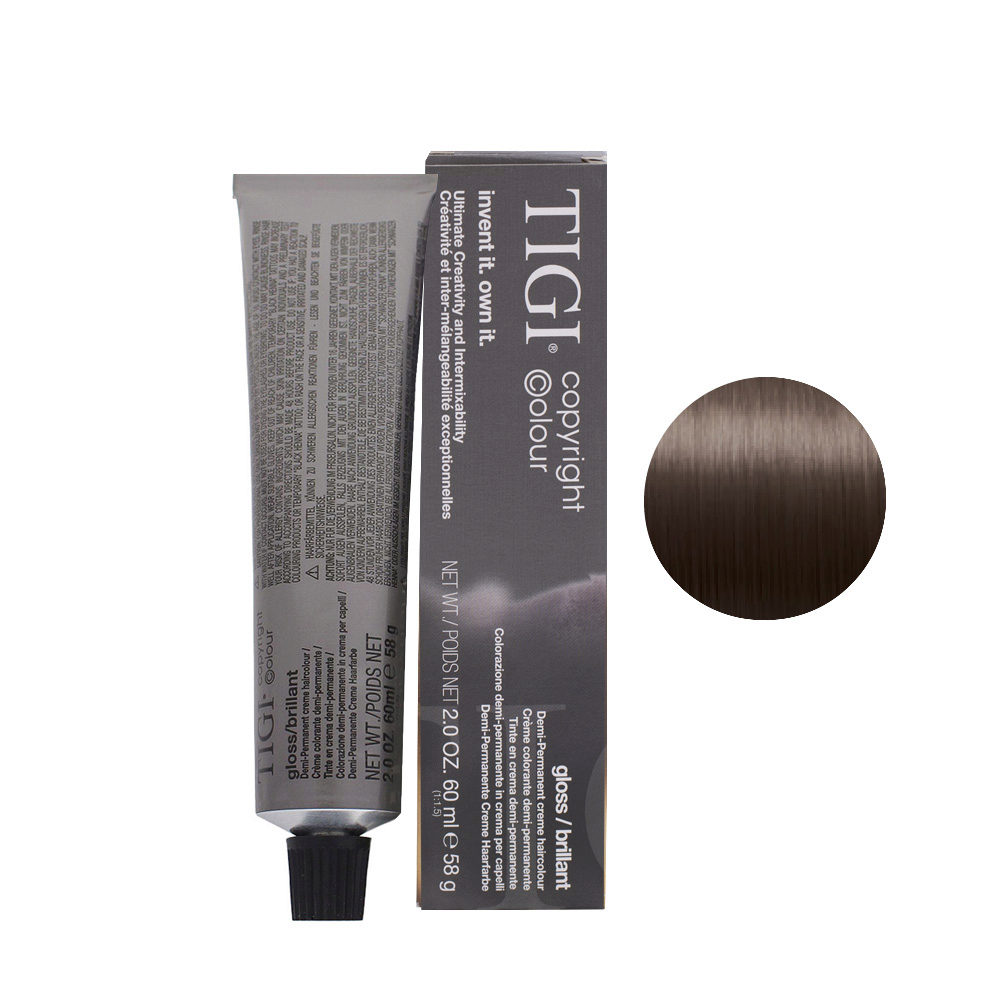 6/08 Rubio Oscuro Natural Cenizo Tigi Gloss 60ml