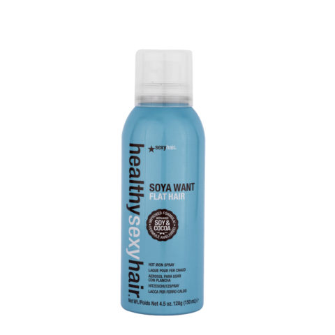 Healthy Sexy Hair Soya Want Flat Hair Hot Iron Spray 150ml