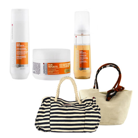 Goldwell Dualsenses Sun reflects Kit Shampoo 250ml Treatment 200ml UV spray 150ml Bolso de mar gratis!