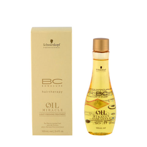 Schwarzkopf Professional BC Oil miracle Light finishing treatment Fine to normal hair 100ml - aceite multifuncional