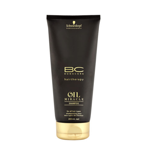 Schwarzkopf Professional BC Oil miracle Shampoo for all hair types 200ml - Champú para cabello grueso