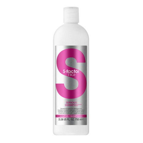 Tigi NEW S-Factor Serious shampoo 750ml - champú para un cabello sedoso