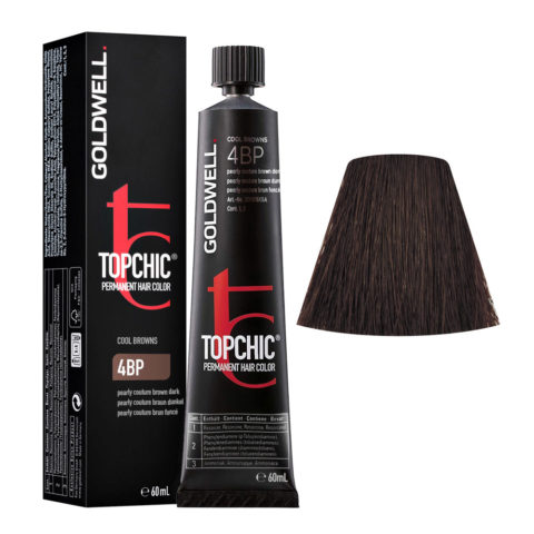 4BP Pearly couture castaño oscuro Goldwell Topchic Cool browns tb 60ml