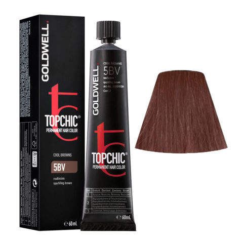 5BV Reallusion sparkling brown Goldwell Topchic Cool browns tb 60ml
