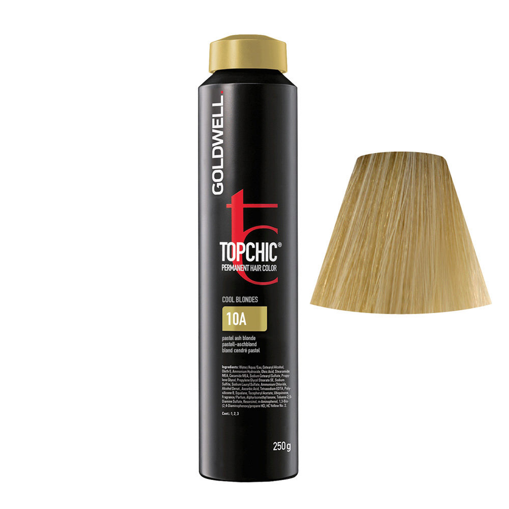 10A Rubio ceniza pastel Goldwell Topchic Cool blondes can 250gr