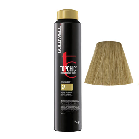 9A Rubio ceniza muy claro Goldwell Topchic Cool blondes can 250gr