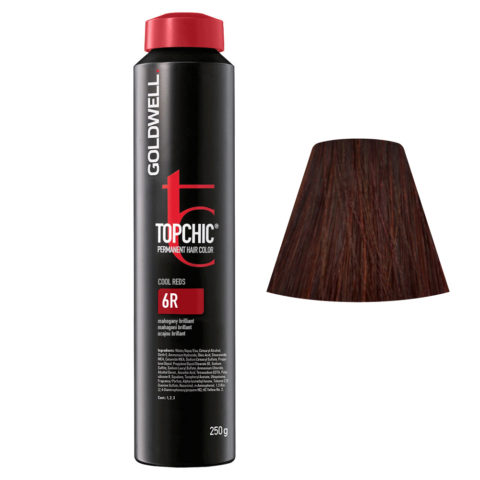 6R Caoba brillante Goldwell Topchic Cool reds can 250gr
