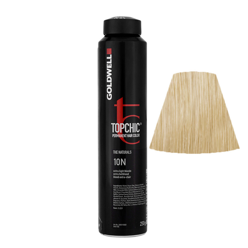 10N Rubio extra claro Goldwell Topchic Naturals can 250gr
