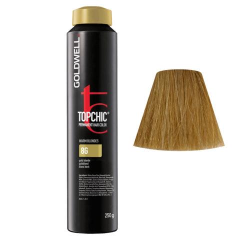8G Rubio dorado Goldwell Topchic Warm blondes can 250gr