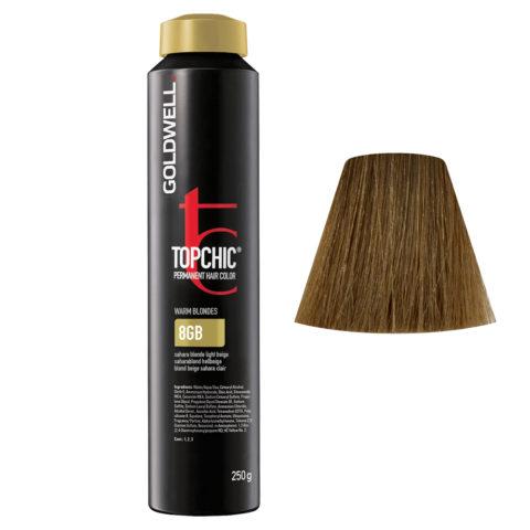 8GB Rubio sahara beige claro Goldwell Topchic Warm blondes can 250gr