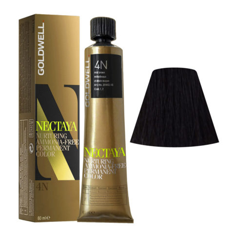 4N Castaño medio natural Goldwell Nectaya Naturals tb 60ml