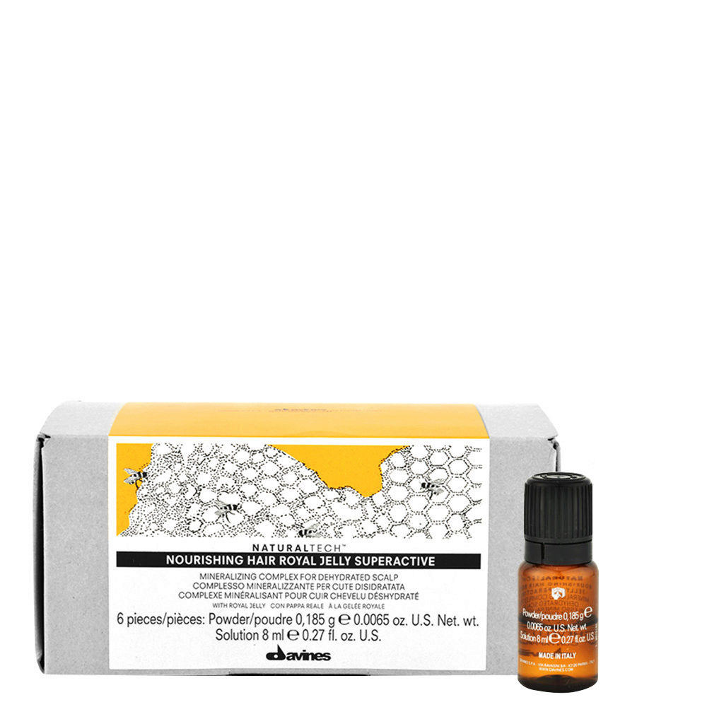 Davines Naturaltech Nourishing Royal Jelly Superactive 6x8ml - Tratamiento calmante
