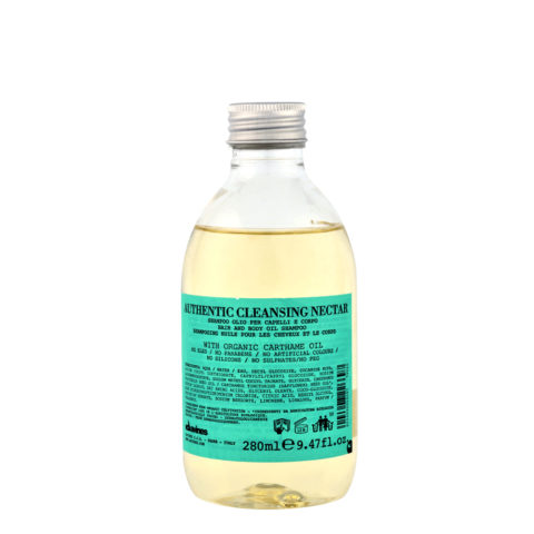 Davines Authentic Cleansing Nectar 280ml - Champú ducha para cabello y cuerpo
