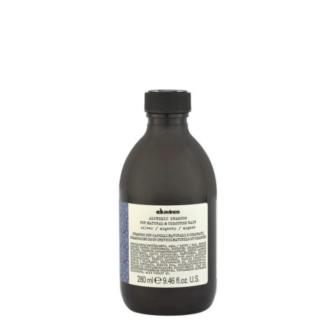 Davines Alchemic Shampoo Silver 280ml - Champú Coloreado Para Cabello Cano