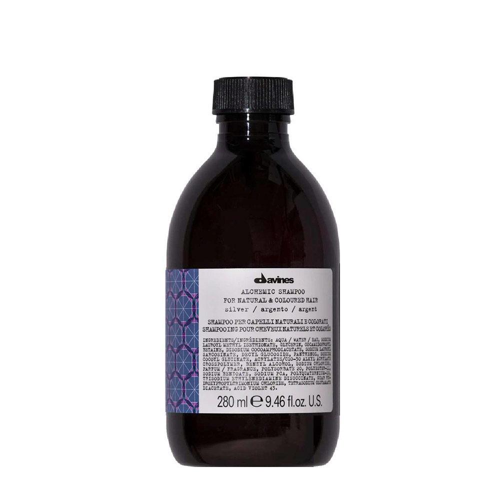 Davines Alchemic Shampoo Silver 280ml - Champú Coloreado Para Cabello Cano